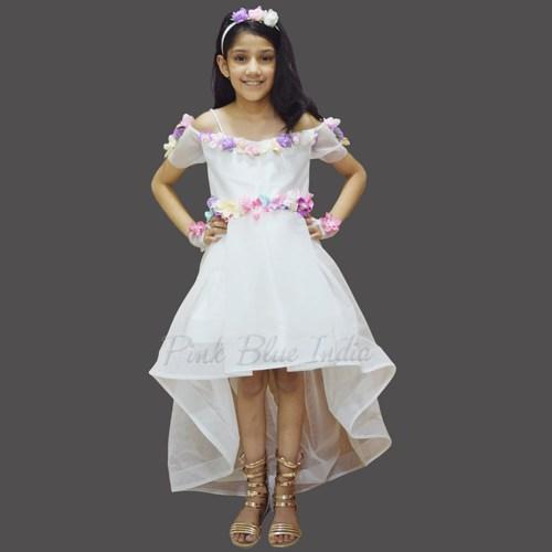 छोटी लड़कियों के लिए न्यू बेबी फ्रॉक, गर्ल हाई लो ड्रेस पोशाक