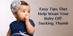 Tips Baby Off Sucking Thumb