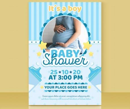 Custom Baby Shower Invitation Card for Girls and Boy