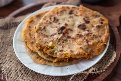 Carrot Paratha for kids