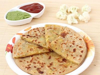 Kids Cauliflower Paratha , Nutritious Gobi Paratha