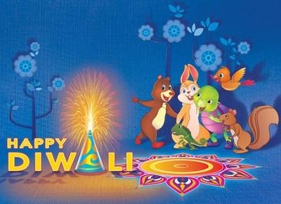 kids diwali greeting card, wishes