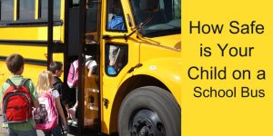 Kids and baby Safe School Bus