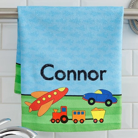 Personalized Kids Towels, Customized Baby Embroidered Towels