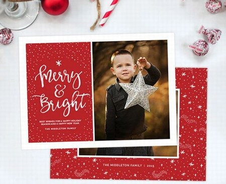 Personalized Christmas eCards, Holiday Greeting invitation Cards